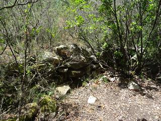 Murets (carbunara ? cumpulu ?) sur le chemin de retour du canyon de Lora