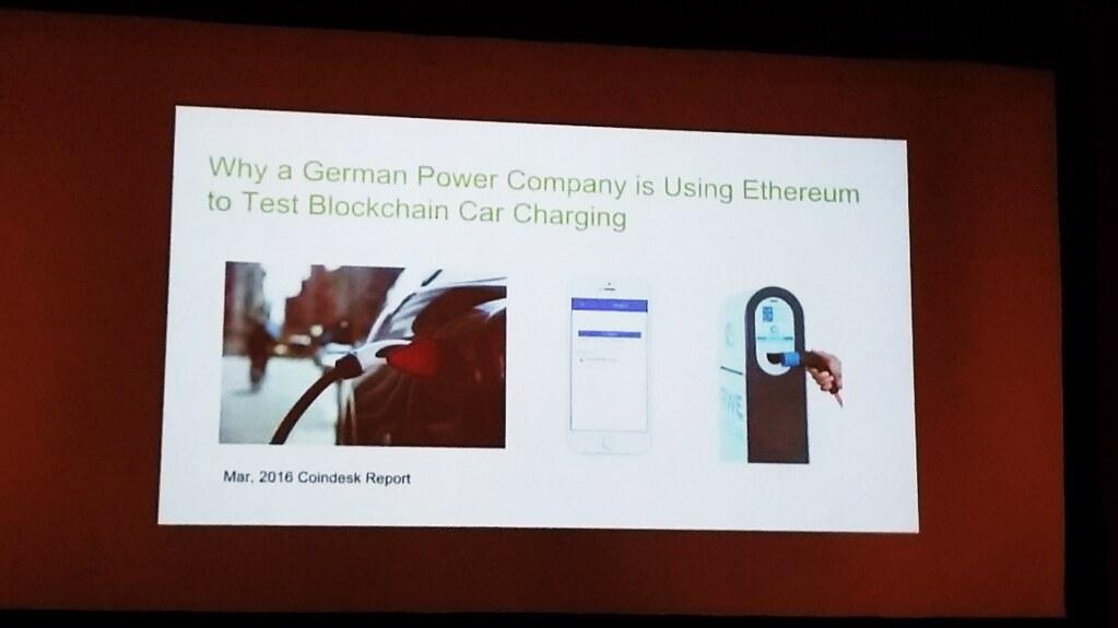 德國有公司嘗試使用以太幣來為電動車充電付款的可能性。(王振益攝)