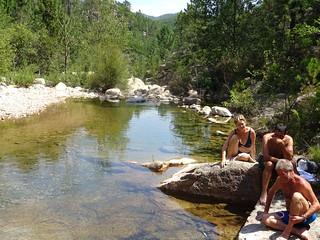 Spuntinu et baignades dans une vasque du Finicione