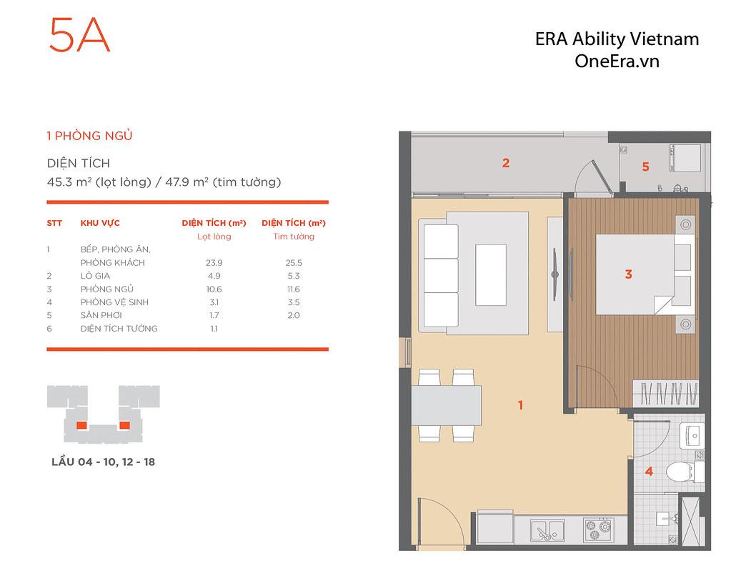 Mặt bằng tầng và thiết kế căn hộ Hausneo 55