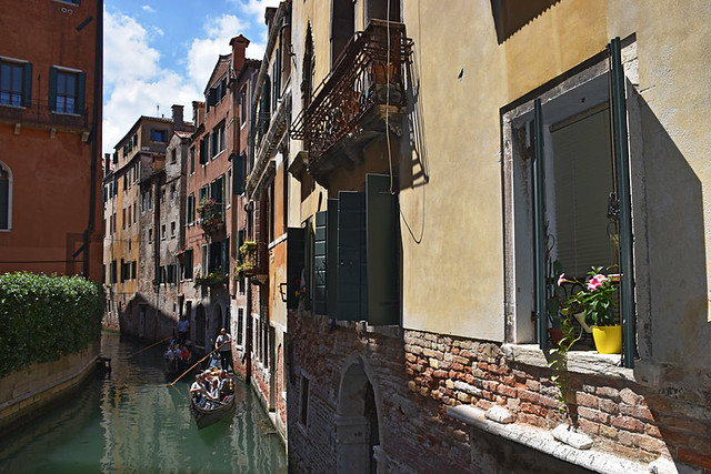 A quiet stretch of canal, Venice