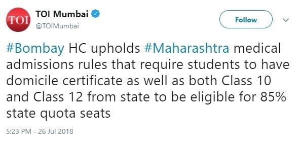 DMER Maharashtra NEET Merit List 2018, Seat Allocation
