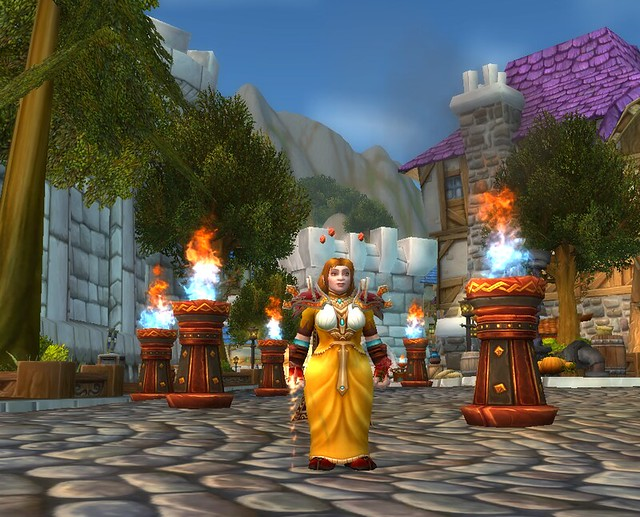 WoW Fire Festival Fire Mage Braziers 2018