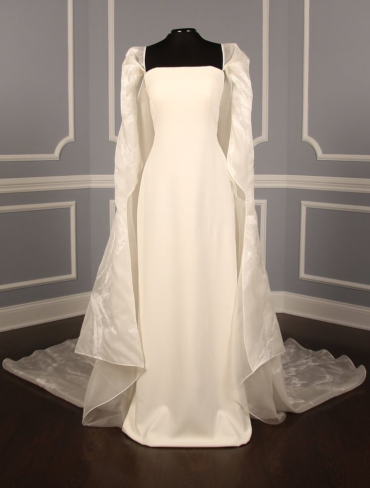 Sheath Wedding Dress Pamella Roland B8006 6 Discount Des Flickr