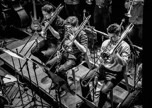 big bang big band, trombones, porgy & bess club, vienna, austria | by franzj
