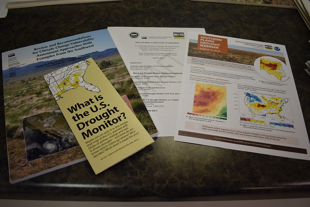 A sampling of information available to attendees of the Regional Drought Workshop