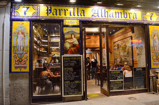 Parrilla Alhambra bar, Madrid