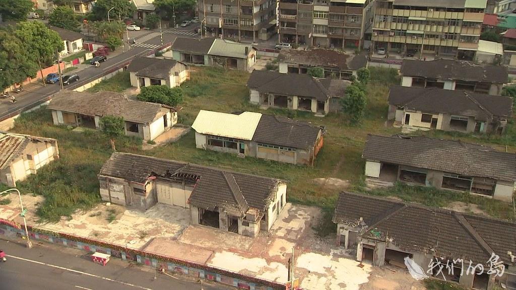 951-3-20s勝利新村曾是日治時期的飛官宿舍群,其中71棟指定為歷史建築。
