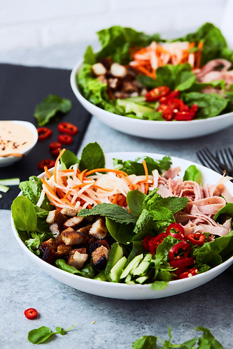 Banh Mi Salad {Keto, Paleo, Whole30} | by Tasty Yummies
