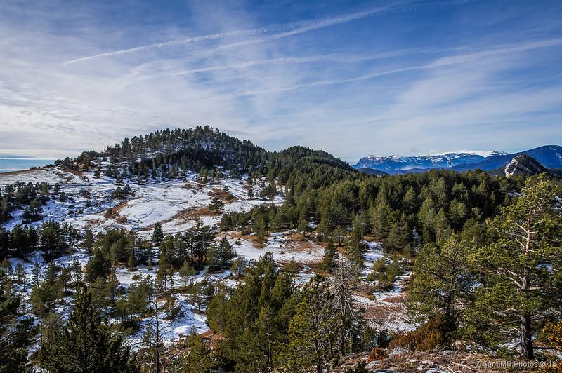 Els Planells, la Serra de Camp-de-Vidre y el Port del Comte