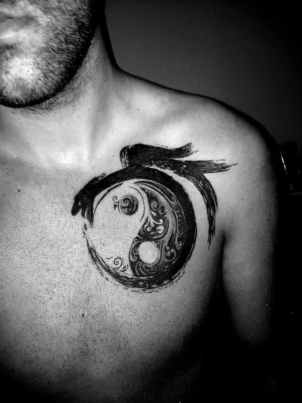 Yin Yang Minitatuajescom Mini Tatuajes Flickr