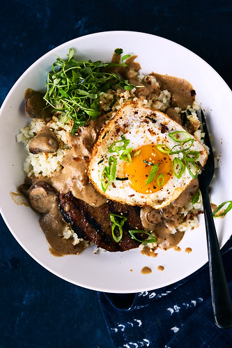 Keto Loco Moco Breakfast Bowl {Paleo, Whole30, AIP-option} | by Tasty Yummies