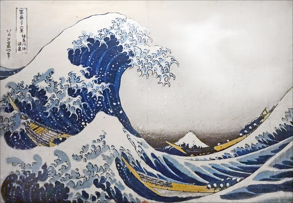 la grande vague de kanagawa de k hokusai exposition fuka flickr. Black Bedroom Furniture Sets. Home Design Ideas