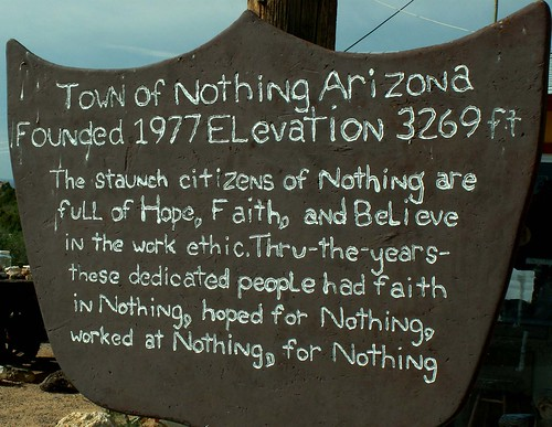The Story of Nothing, in Arizona | by cobalt123