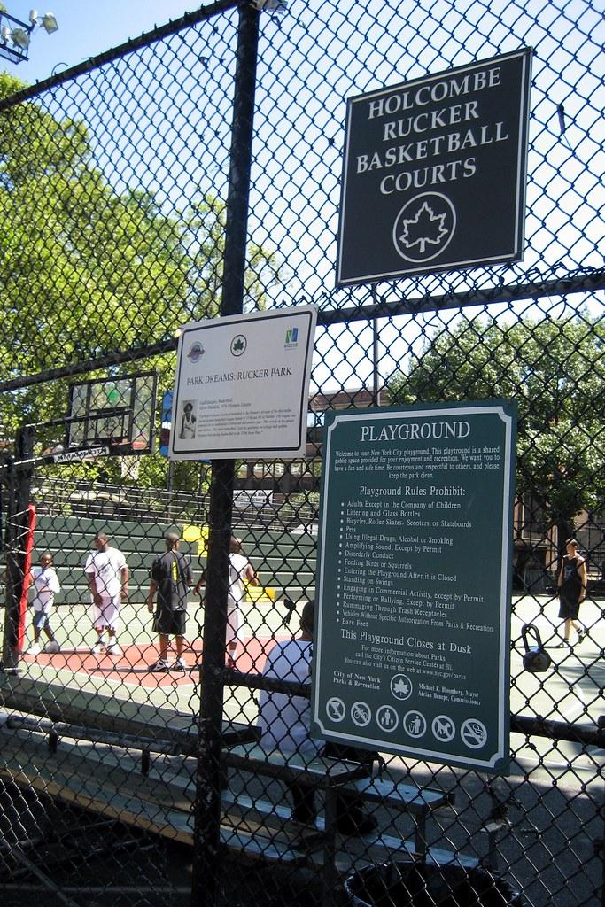NYC Harlem Holcombe Rucker Basketball Courts Rucker