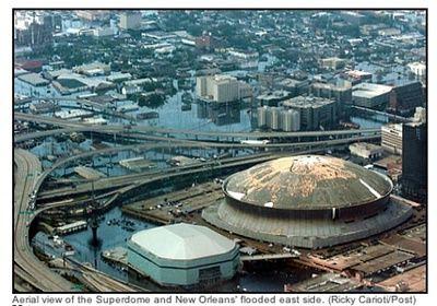 Dome Flood Hurricane Katrina New Orleans Hurricane
