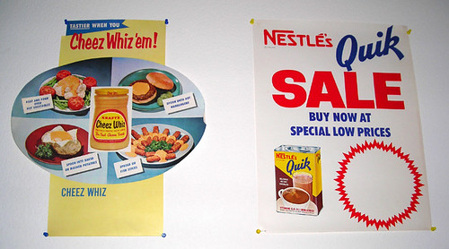 Kraft Cheez Whiz & Nestle's Quik Grocery Store Ad Posters, 1960's | by Roadsidepictures