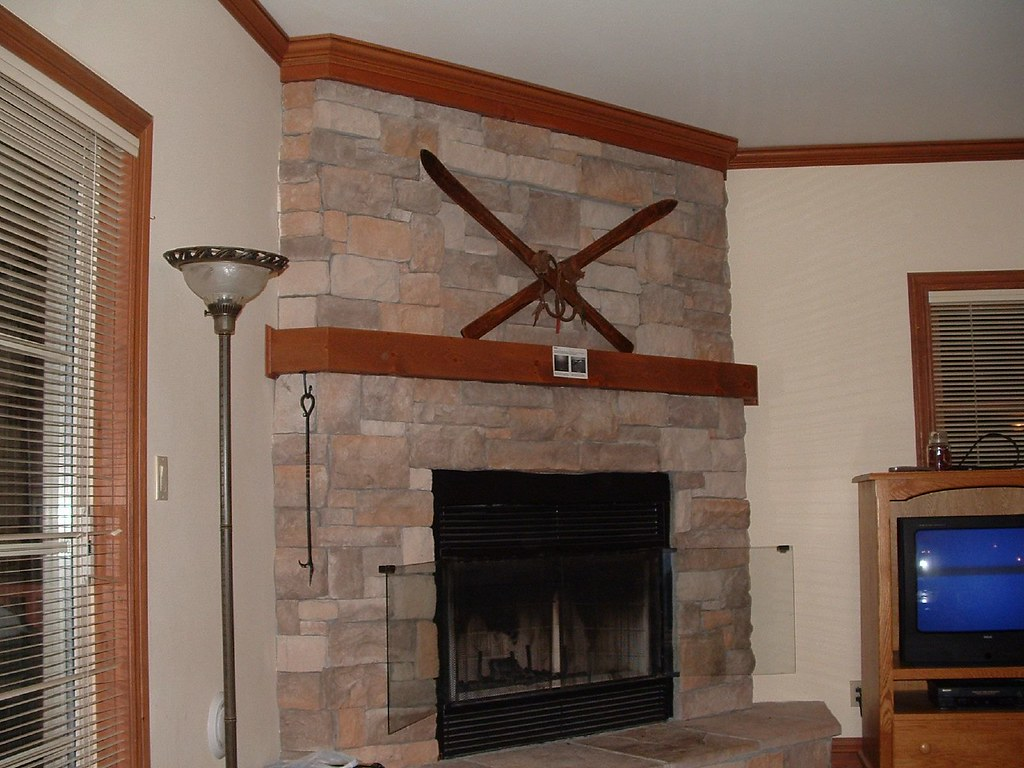 the standard crossed skis over the fireplace which actual u2026 flickr