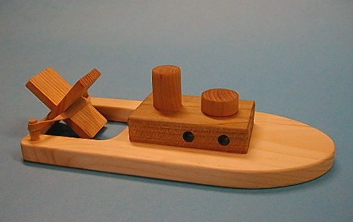 Wooden Paddle Boat | Natural wood paddle boat - It really ...