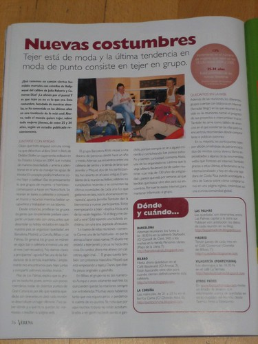 Barcelona Knits! in a magazine | by betty.