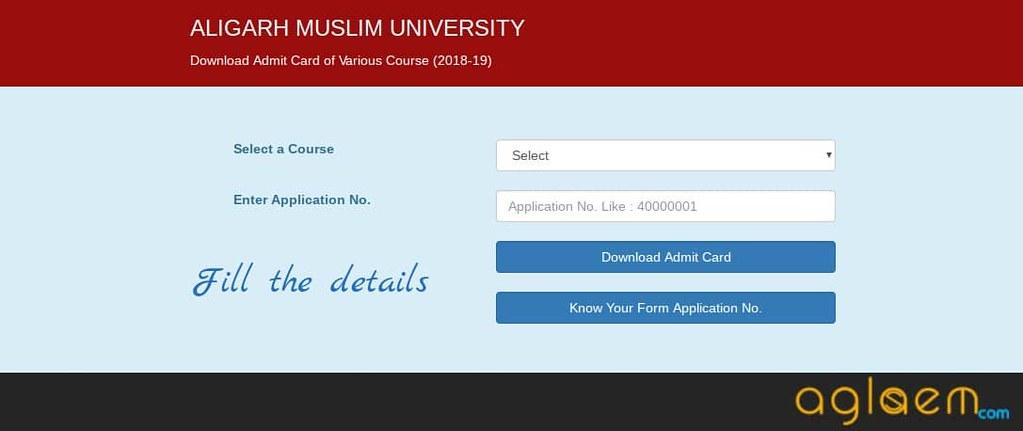 AMU Law Entrance Exam 2019 Admit Card
