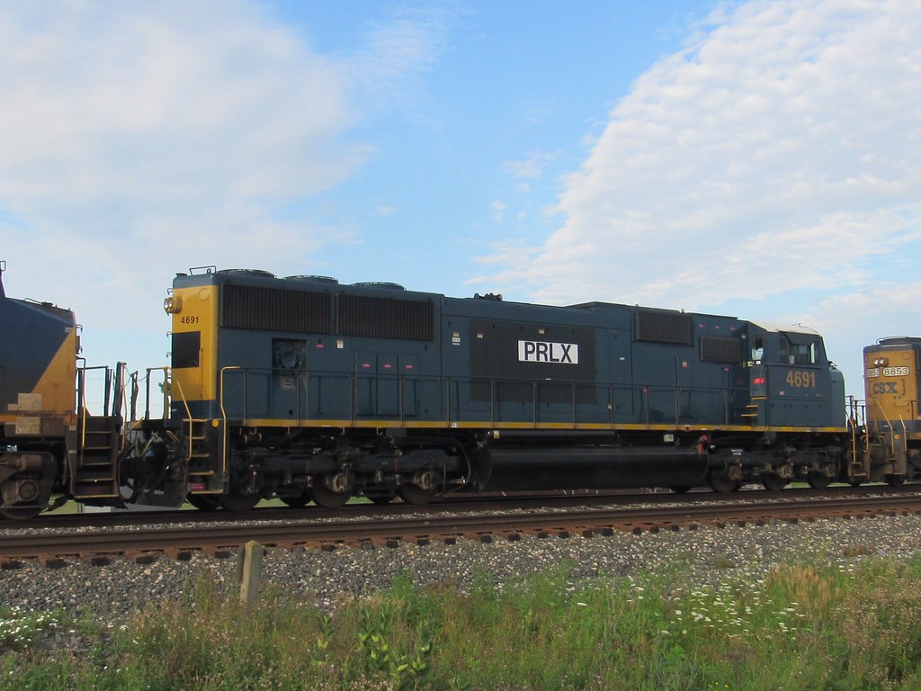 Prlx 4691 is one of 25 SD70M sold to Progress Rail to lease to UP.