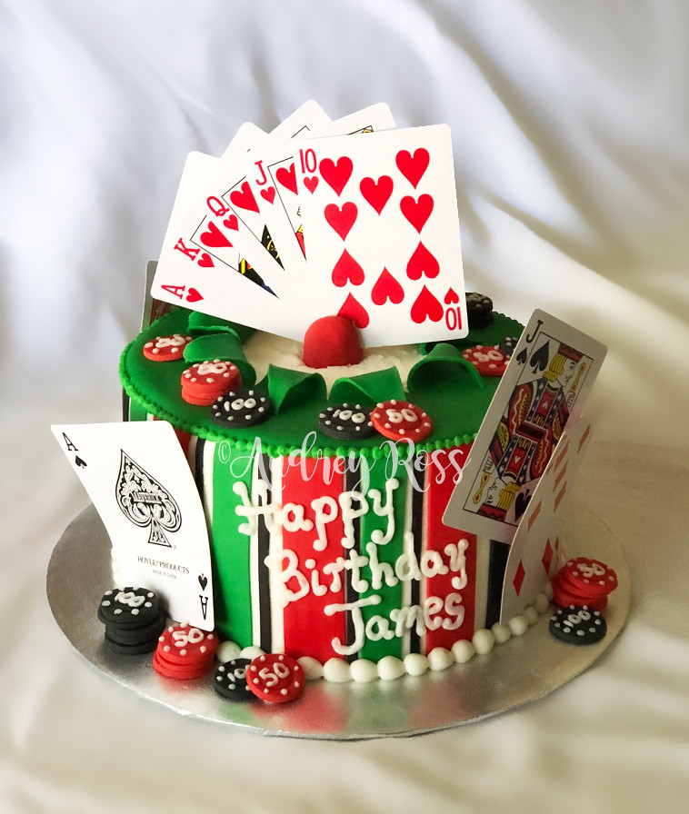 Poker Birthday Cake A Cake From Me Is Always A Safe Gamble The