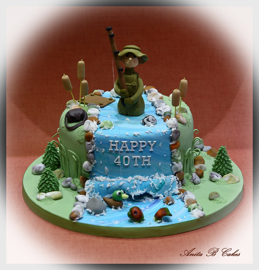 Fishing Themed Birthday Cake Anita Barrett Flickr