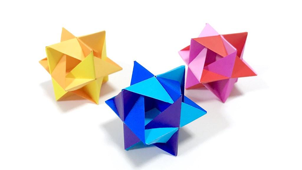 Hikkake Designed By Saku Origami Kusudama Flickr