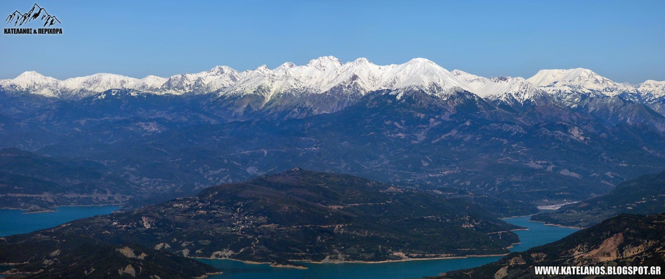 βουνα δυτικων αγραφων δυτικα αγραφα χιονισμενα χειμωνας φτερη λιακουρα λιμνη κρεμστων ευρυτανια