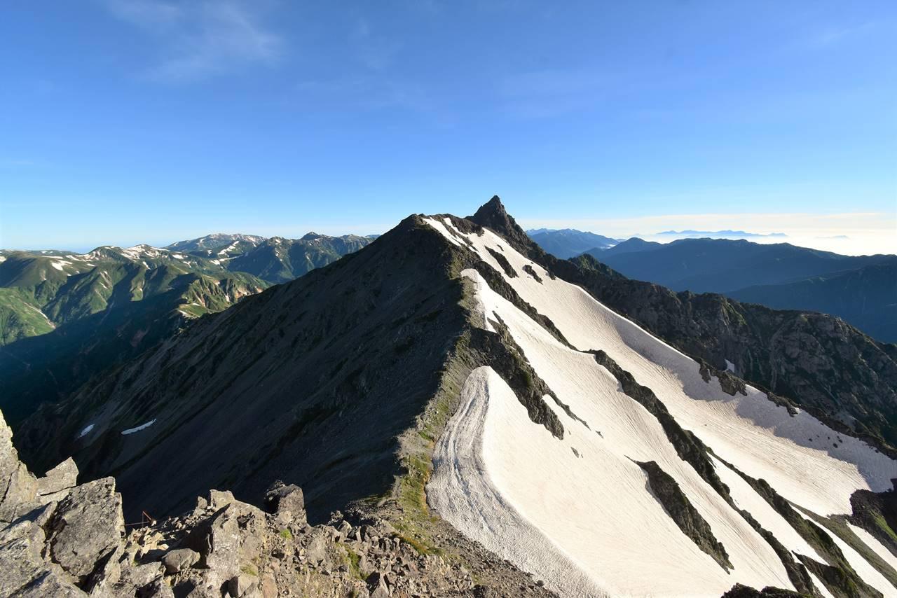 北アルプス・中岳から槍ヶ岳へ縦走