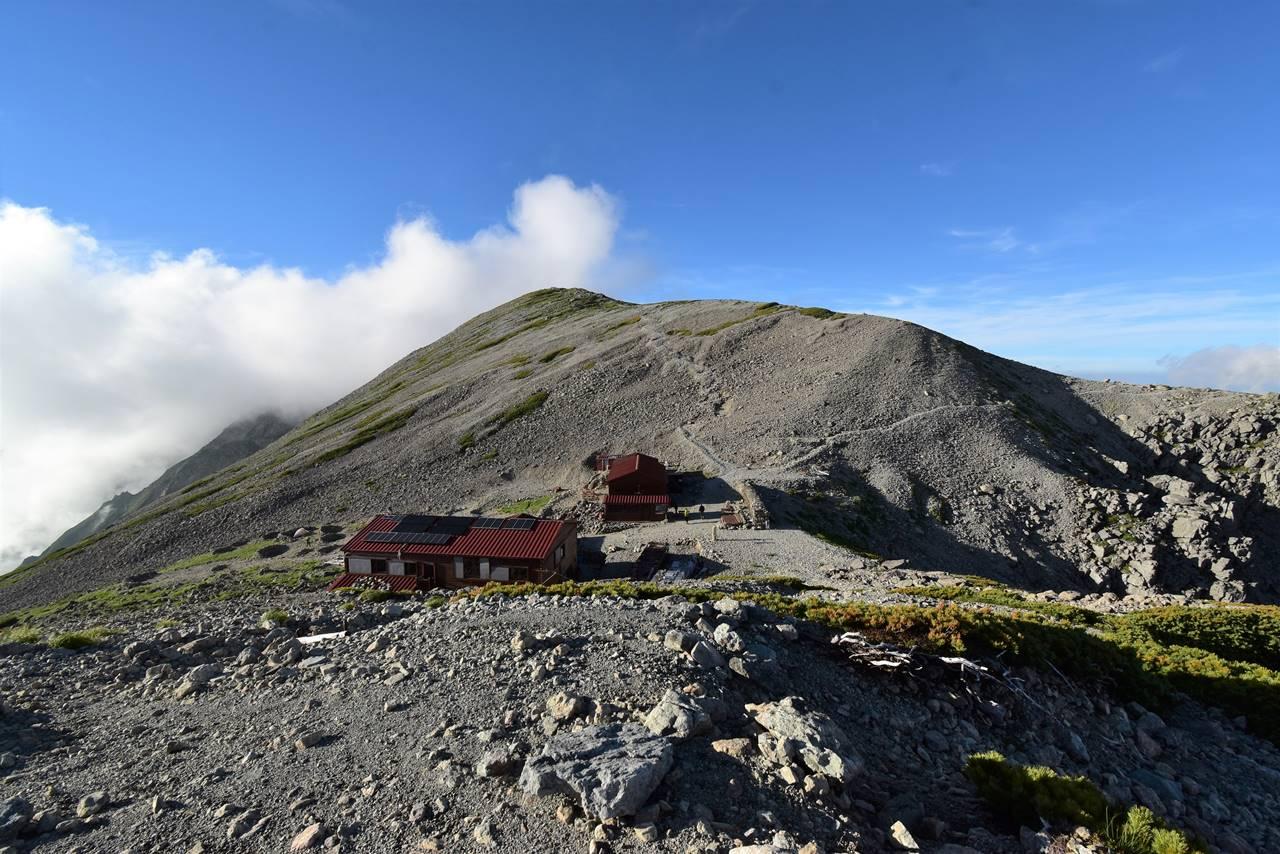 北アルプス・南岳小屋