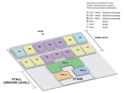 WINNER 'Everywhere' Tour in Singapore Seating Plan | by sgXCLUSIVE