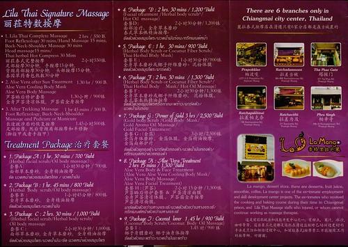 Brochure Lila Thai Massage Chiang Mai Thailand 3