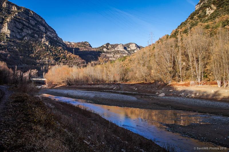 Río Llobregat en la cola del pantano de La Baells