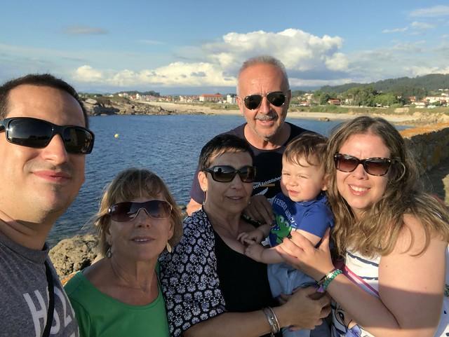 Foto de familia en Galicia