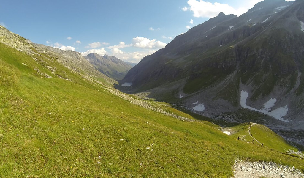 Just before the end of climb to Kalser Tauern. Dorfersee in the background, you can see where you have come from...