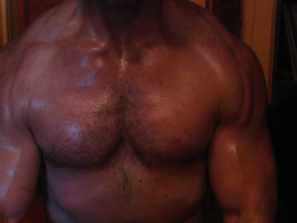 Big Biceps Flexing A Thick Strong Muscular Chest And Rippe Flickr