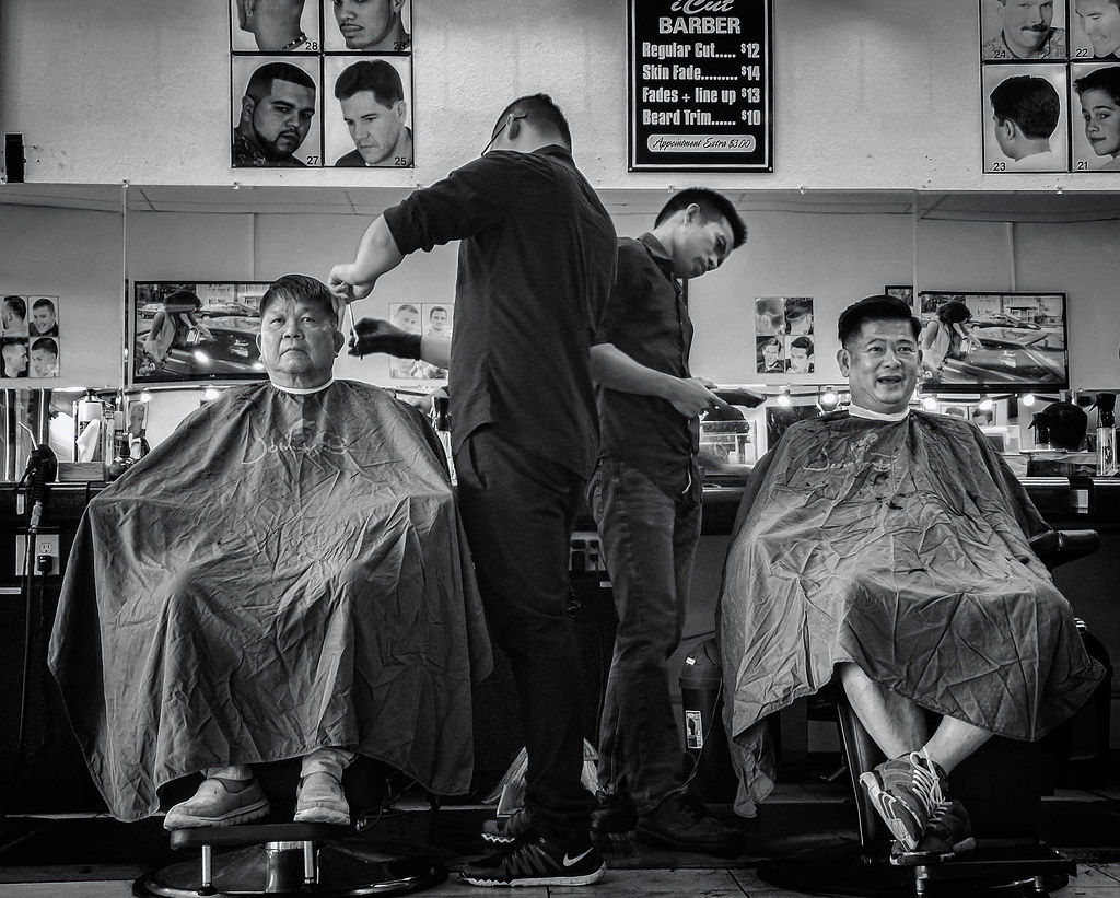 Haircuts Two Men Getting Their Hair Cut At A Barbershop In Flickr