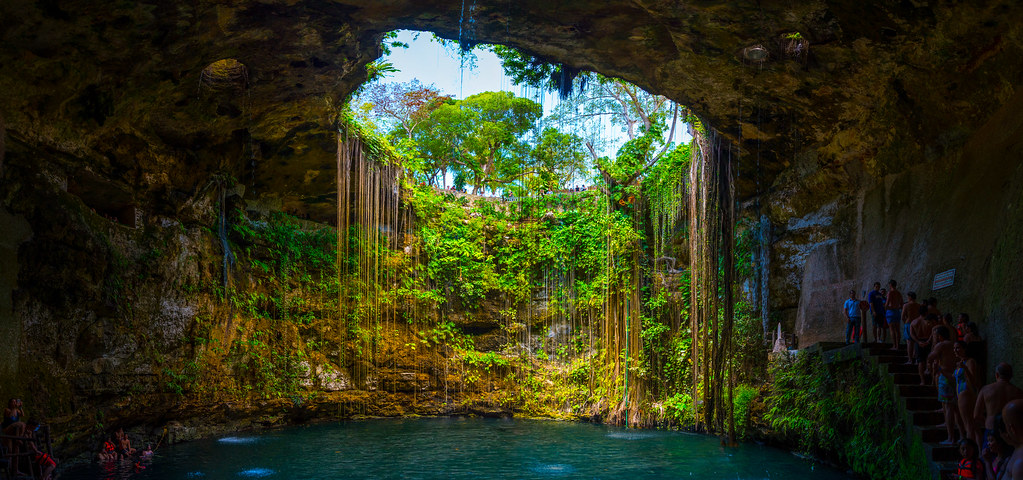 The Ik-Kil cenote in Mexico is definitely one of the most magical places on Earth.