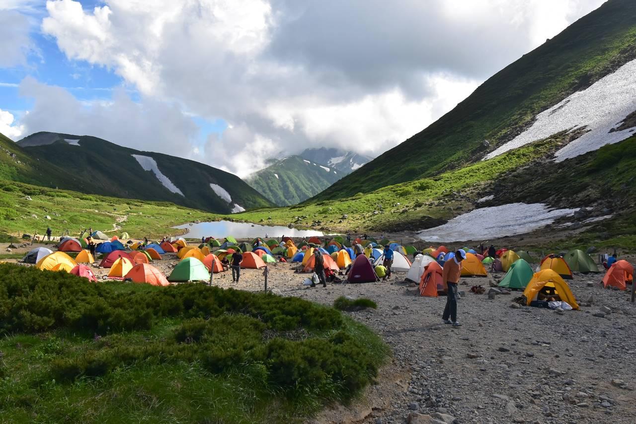 双六小屋 テント泊登山