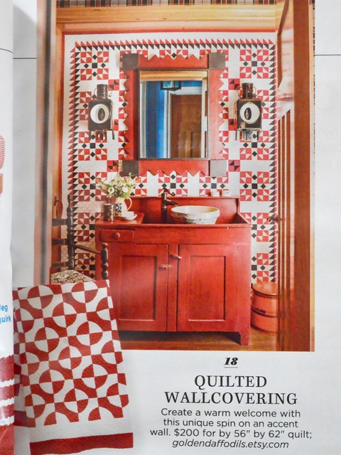 Country Living June 2017 p27 Quilted Wallcovering