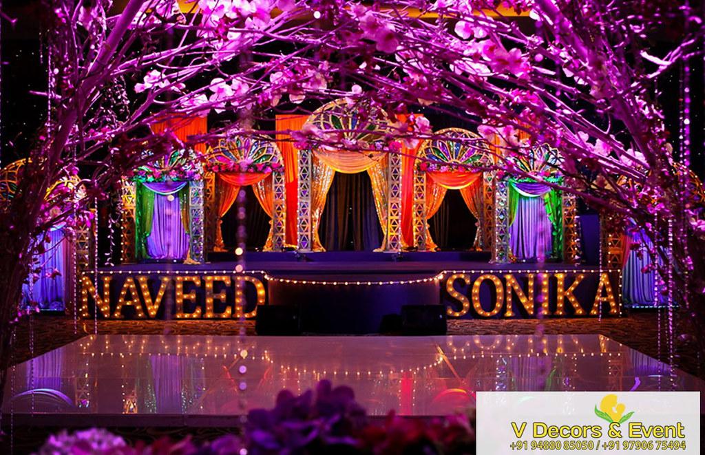Wedding Reception Stage Decoration In Panruti Wedding Planner Flickr