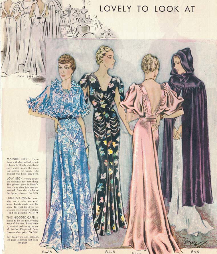1930s bias cut gowns | Fashion illustration of bias cut even… | Flickr