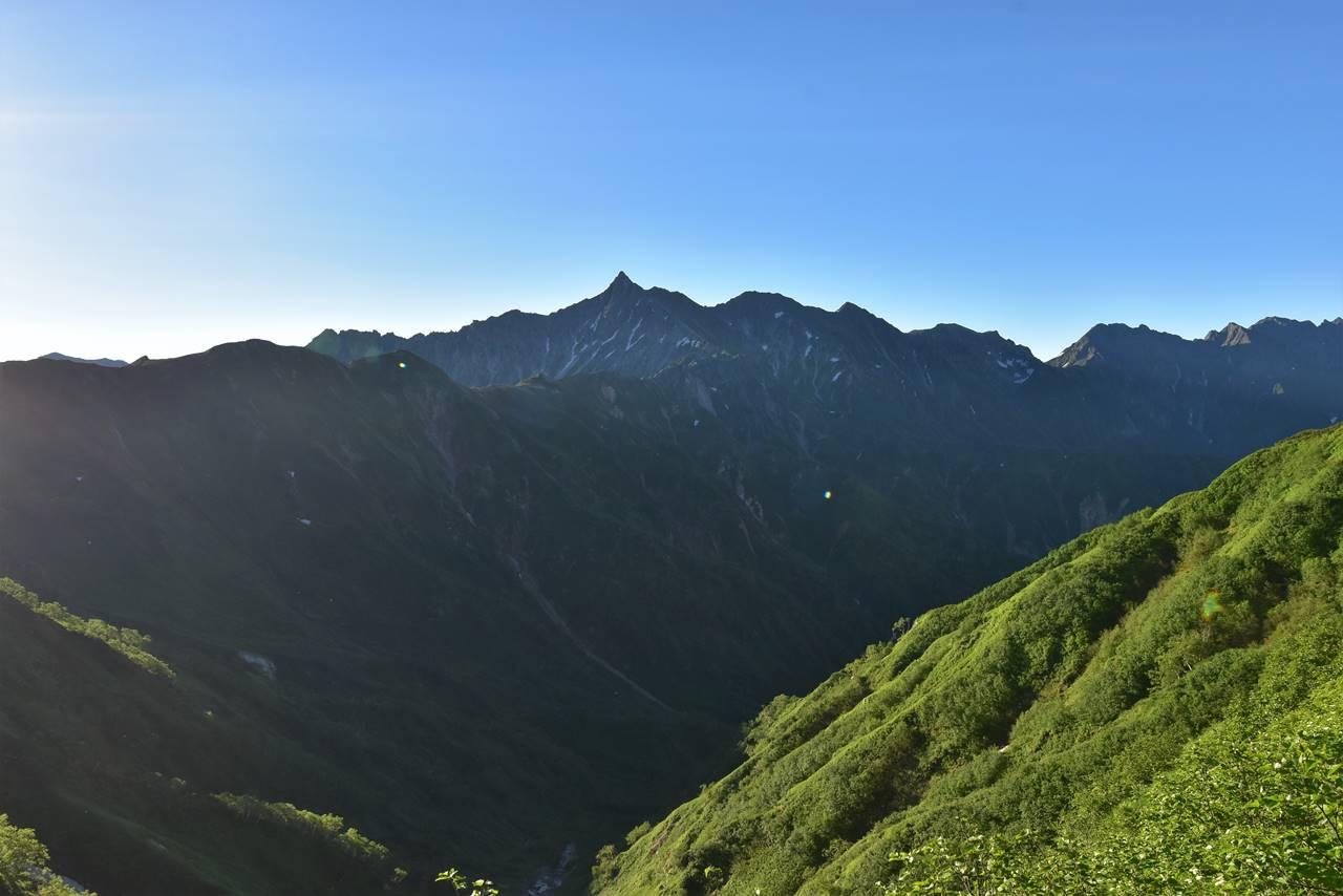 双六岳登山道から眺める西鎌尾根~槍ヶ岳~穂高連峰