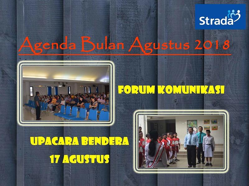 AGENDA KEGIATAN BULAN AGUSTUS TAHUN PELAJARAN 2018