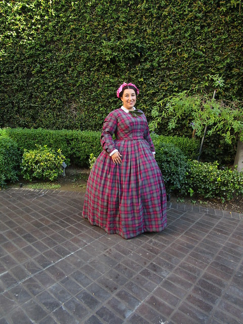 Katie Lovely: Plaid Wool 1860s Day Dress