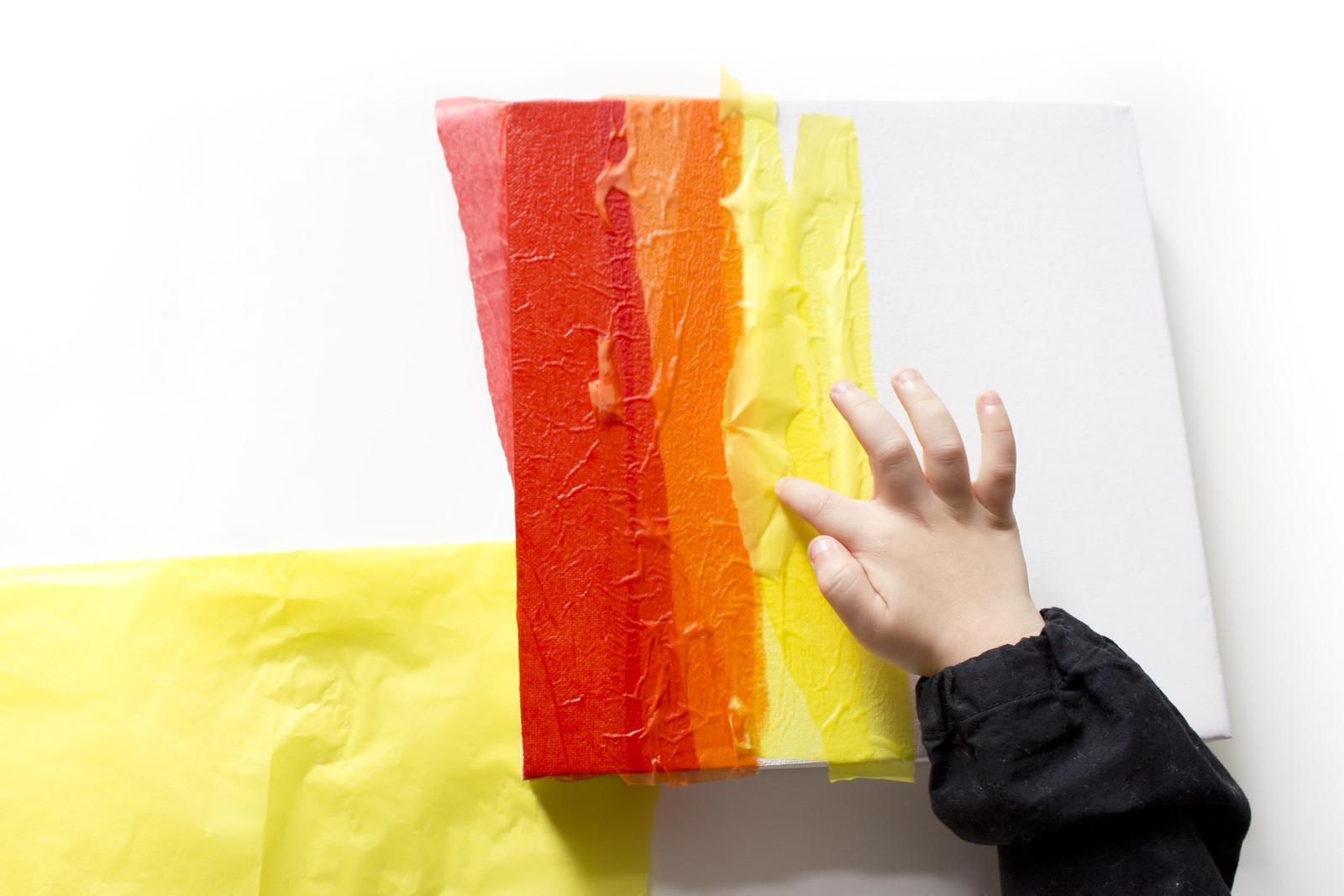 Tissue Paper Watercolour Rainbow A Toddler Art Project Mimi Codd
