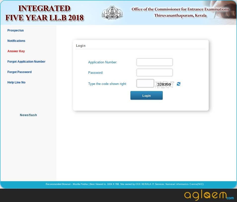Kerala LLB 5 Year 2019 Admit Card