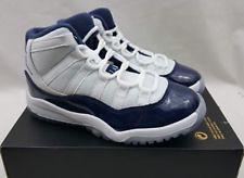 low cost 5525f f2c62 Nike Air Jordan XI 11 Retro BP Win Like 82 Blue Preschool 378039 123 Size  12c ...